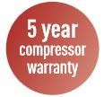 5 year compressor warranty