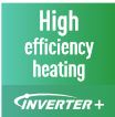 High efficiency heating